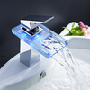 Charming Color Changing Led Waterfall Bathroom Sink Faucet-- Faucetsuperdeal.com Image