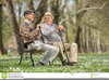 Old Men Sitting On Park Bench Clipart Image