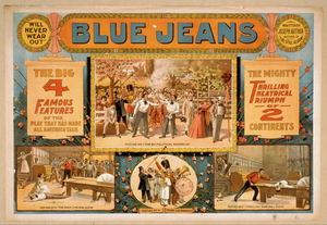 Blue Jeans  Will Never Wear Out  : Written By Joseph Arthur, Author Of  The Still Alarm.  Image