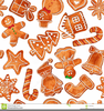 Snowflake And Gingerbread Man Clipart Image