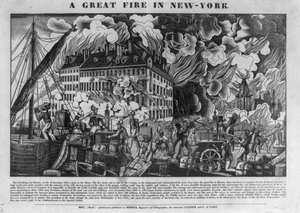 A Great Fire In New-york Image