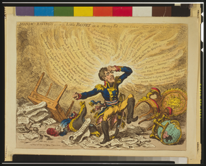 Maniac-raving S-or-little Boney In A Strong Fit  / Js. Gillray Inv. & Fect. Image