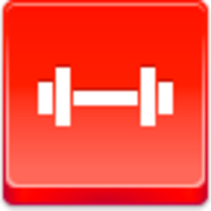 Free Red Button Icons Barbell Image