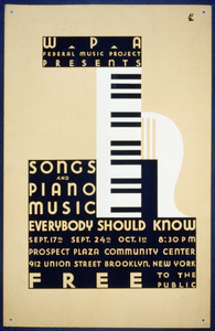 Wpa Federal Music Project Presents Songs And Piano Music Everybody Should Know Free To The Public / Bl. Image