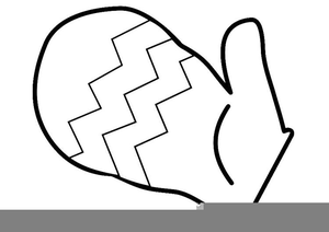 Free Black And White Mitten Clipart Image