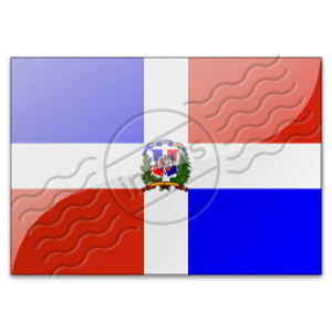 Flag Dominican Republic Image
