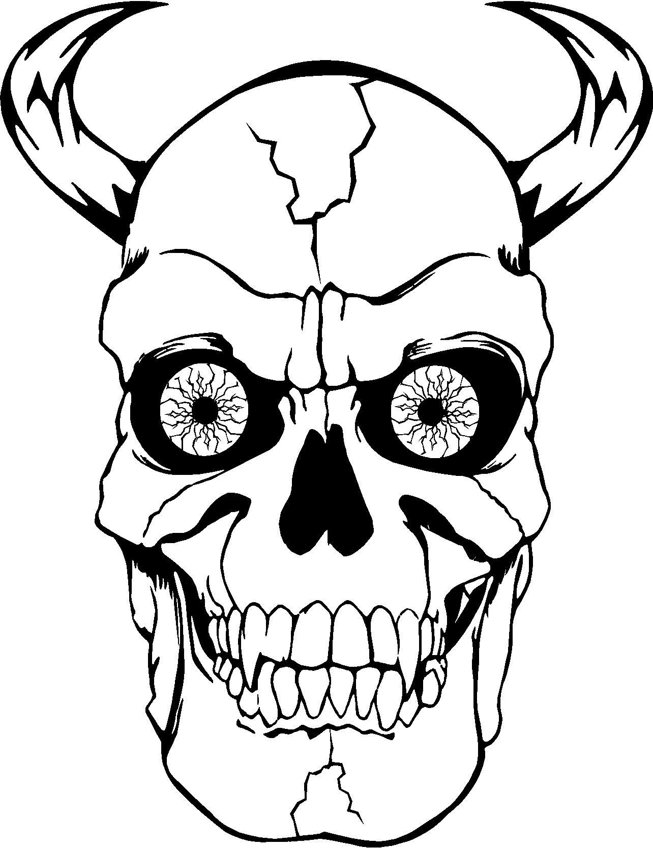 ausmalbilder totenkopf