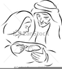 Virgin Mary Vector Clipart Image