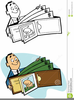 Clipart Billfold With Money Image