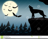 Werewolf Howling Clipart Image