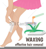 Free Waxing Clipart Image