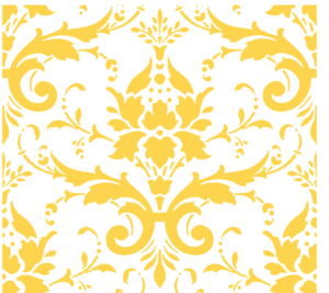 Light Butter Damask Clip Art