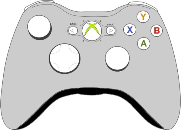 Xbox Live Drawing : Xbox controller free images at clker vector clip