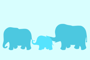Elephant Family Cartoon Clip Art