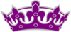 Tiara No Cross Purple Grey Clip Art