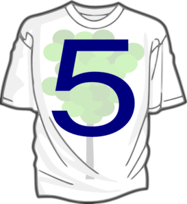 Green 5 T-shirt 7 Clip Art