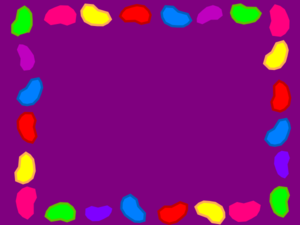 Jelly Bean Background Rainbow Purple Clip Art