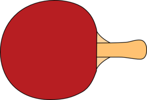Table Tennis Racquet Clip Art at - 10.6KB