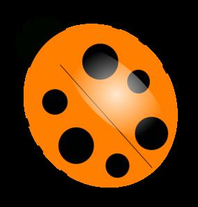 Orange Ladybugs Clip Art