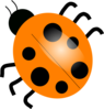 Orange Ladybugs Clip Art