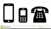 Cell Phone Clipart Black And White Image