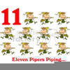 Eleven Pipers Piping Clipart Image
