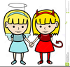 Free Twin Girls Clipart Image