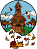 School In Fall Clip Art