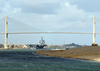 The Nuclear Powered Aircraft Carrier Uss Enterprise (cvn 65) Passes Under Friendship Bridge As She Transits The Suez Canal. Image