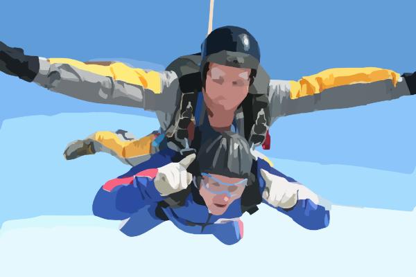 Sky Diving Clip Art at Clker.com - vector clip art online ...