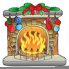Animated Fireplace Clipart Image