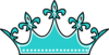 Teal Wears The Crown Clip Art