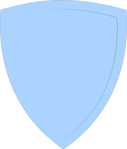 Shield, Light Blue Clip Art