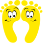 Yellow Happy Feet Clip Art