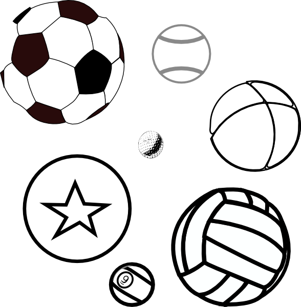 Coloring Book Balls Clip Art At Clker Com Vector Clip Free Balls Coloring Pages