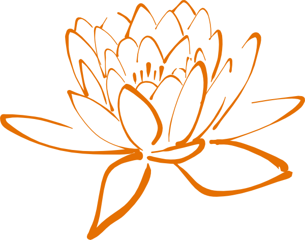 orange lotus clip art at clker com vector clip art online royalty rh clker com lotus clip art free locust clip art