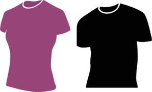 Female Tshirts Clip Art