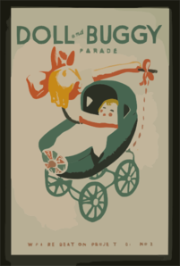 Doll And Buggy Parade--wpa Recreation Project, Dist. No. 2  / Beard. Clip Art