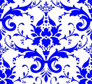Royal Blue Damask Clip Art