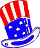 Uncle Sams Hat Clothing Clip Art