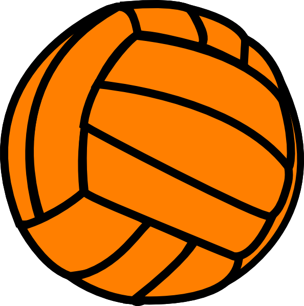 orange volleyball clip art at clker com vector clip art online rh clker com