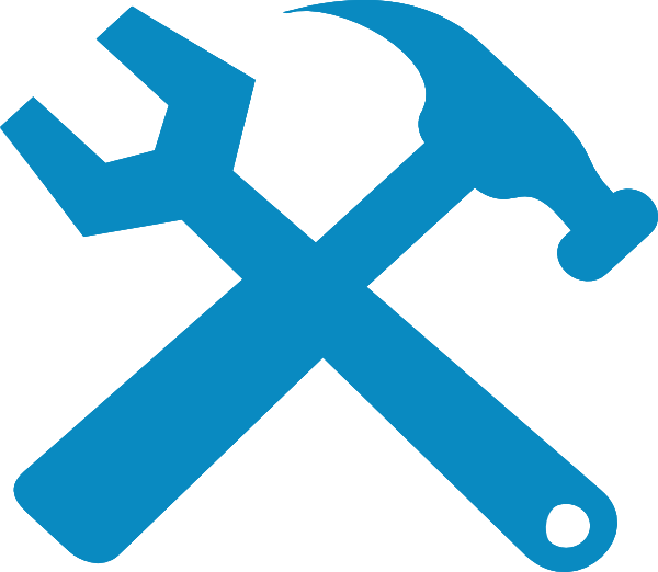 Hammer And Wrench Silhouette Clip Art At