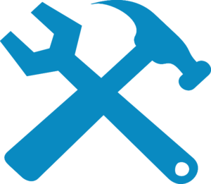 Hammer And Wrench Silhouette Clip Art