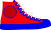 High Top Shoe Clip Art
