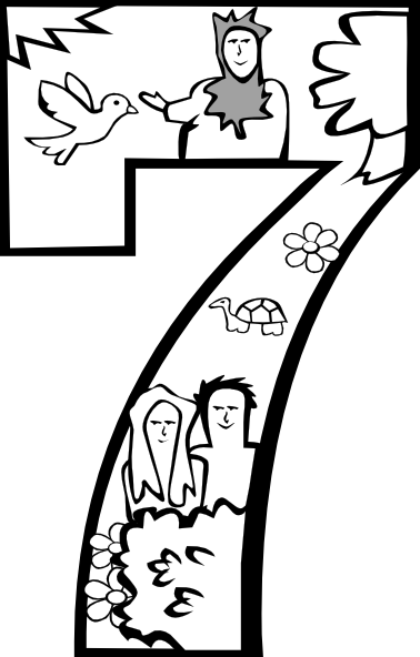 Creation Day 7 Clip Art At Clker Com Vector Clip Art Seven Days Of Creation Coloring Pages