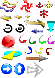 Mixed Arrows Clip Art