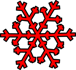 Snowflakes red. Snowflake clip art at