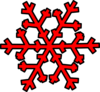 Red Snowflake Clip Art