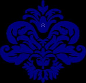 Navy Blue Damask Clip Art