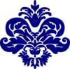 Navy Blue Damask Clip Art